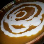 Christmas Roast Butternut Squash and  Sweet Potato Soup with  Buttermilk Blue Cheese Sauce  (Nigella Lawsonss Recipe)