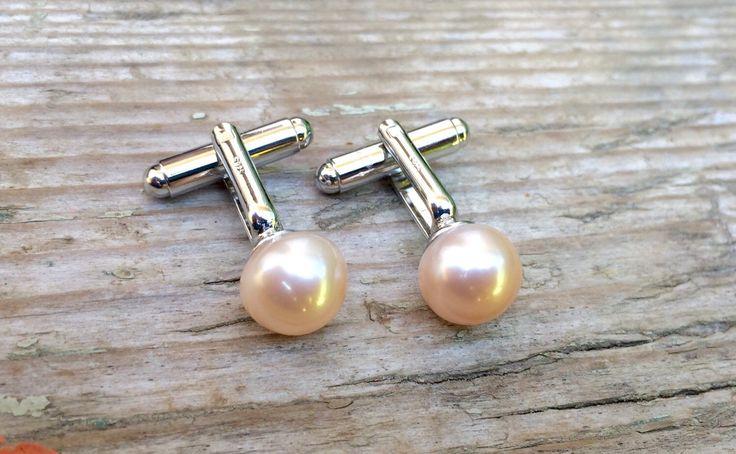 A personal favourite from my Etsy shop https://www.etsy.com/sg-en/listing/242799194/pearl-cufflinks-mens-cufflinks-gemstone