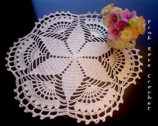PINK ROSE CROCHET /: Centrinho Crochet Star - Guiding Star Doily no chart