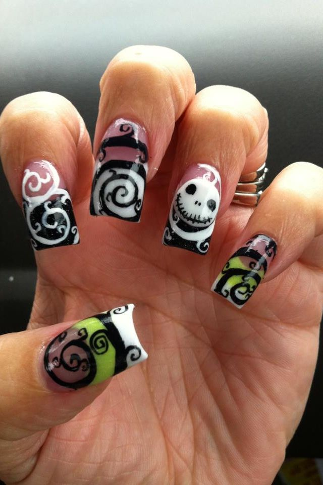 Acrylic nails this is such a cool design