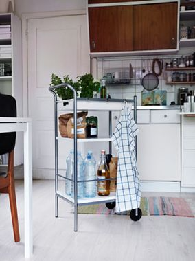 Save On: Bar Cart. If you're into bar carts, you're in luck: There are loads of stylish ones out there on the cheap. Score! Love this: BYGEL Utility Cart (shown, $30, ikea.com).