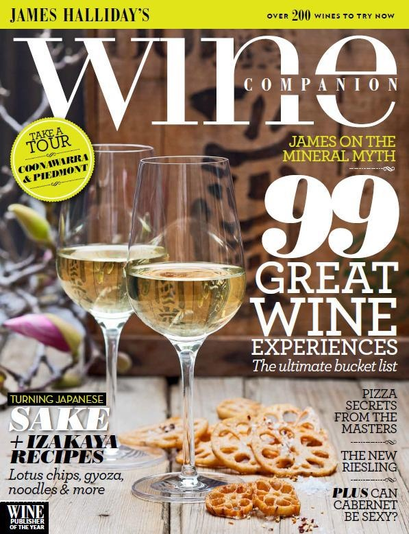 Issue 6 Oct/Nov 2012  In our new issue, we bring you the ultimate bucket list of 99 great wine experiences. James on minerality in wine, editor Campbell Mattinson asks whether cabernet can be sexy and we give you the lowdown on the classic varietal of riesling. Plus, we go to Piedmont and Coonawarra, and share 200 tasting notes, along with a collection of delicious Japanese recipes with wine and sake matches, as well as top pizza tips and recipes from the experts.