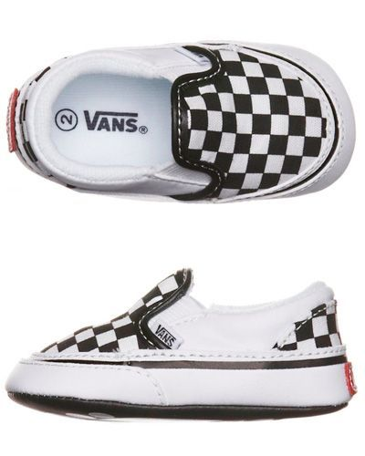 SURFSTITCH - KIDS - TODDLER BOYS - BABY CLOTHES - VANS CRIB CLASSIC SLIP ON  SHOE - BLACK WHITE  baby boys clothes f7924f902