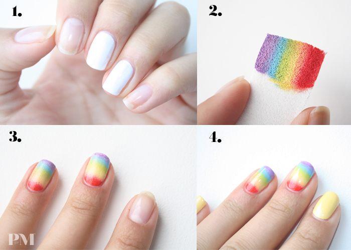HOW TO: RAINBOW NAILS | polishedbymaria.com