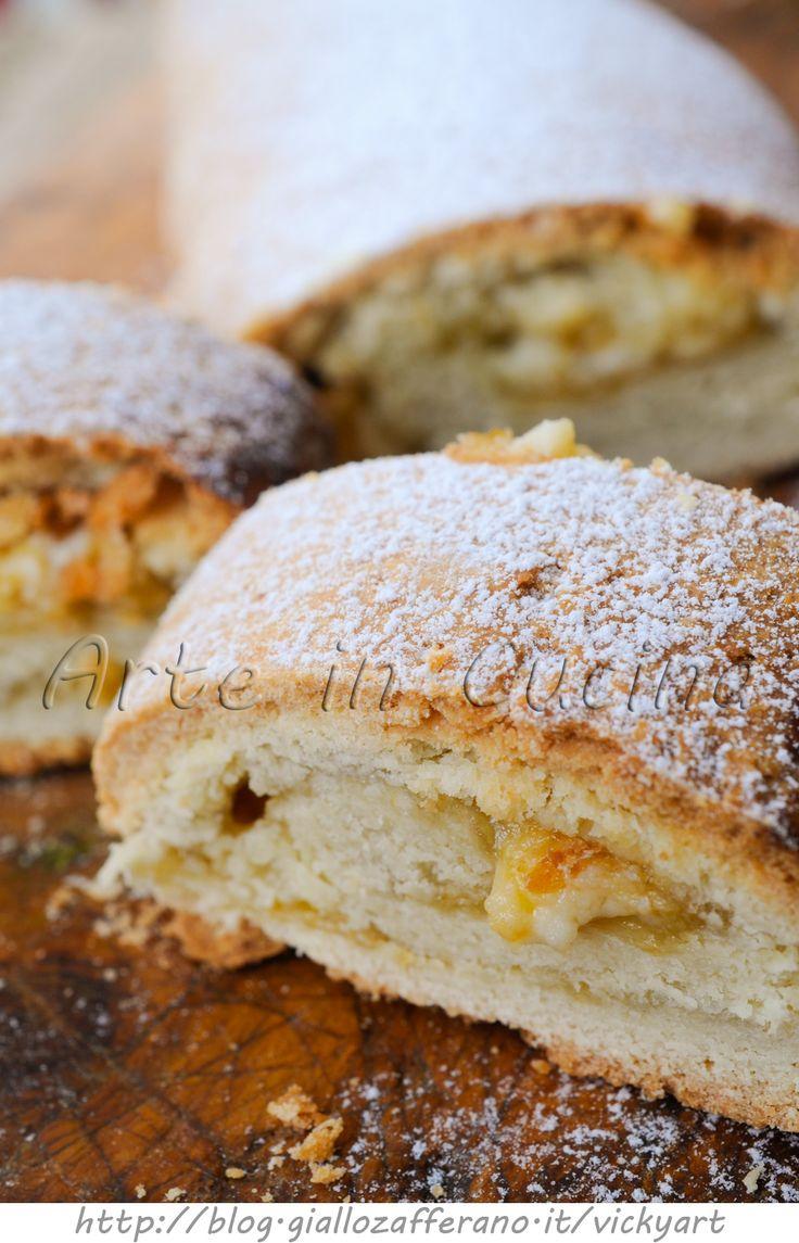 Rotolo di pasta frolla con marmellata e ricotta ricetta facile vickyart arte in cucina