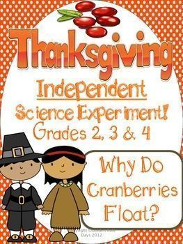 Thanksgiving Independent Science Experiment Cranberries & Morning Work!