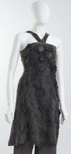 Nuno-felted dress, botanically dyed