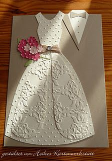 Elegant Embossed Wedding Card...