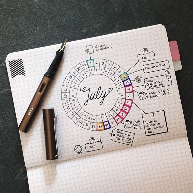 Calendar Wheel Bullet Journal : Best monthly calendars ideas on pinterest free