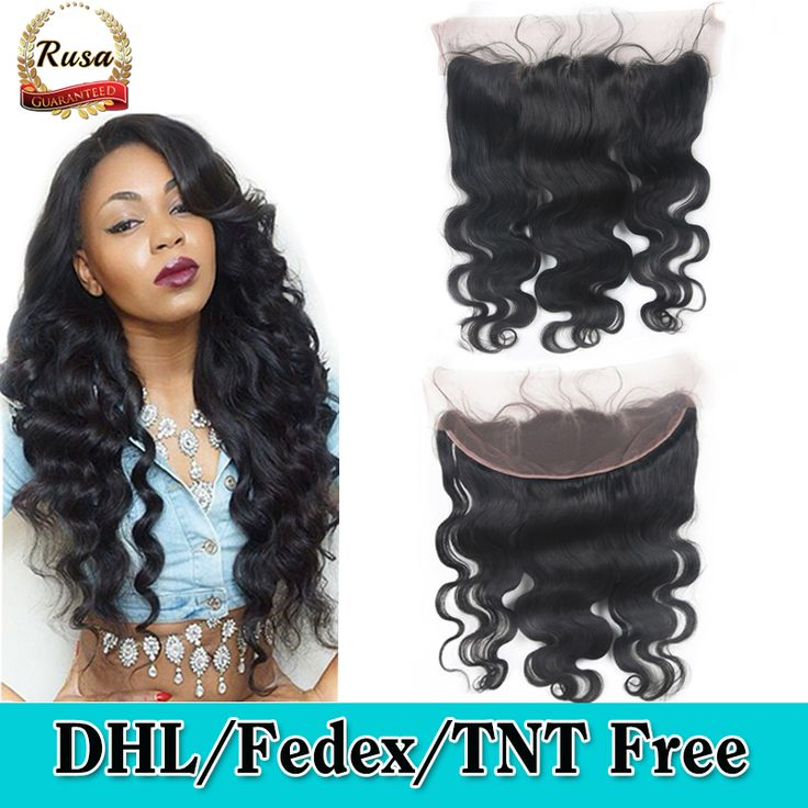 DHL Free Shipping 8A Virgin Brazilian Hair Lace Frontal Closure 13x4 Body Wave Human Hair Ear To Ear Lace Closure Bleached Knots