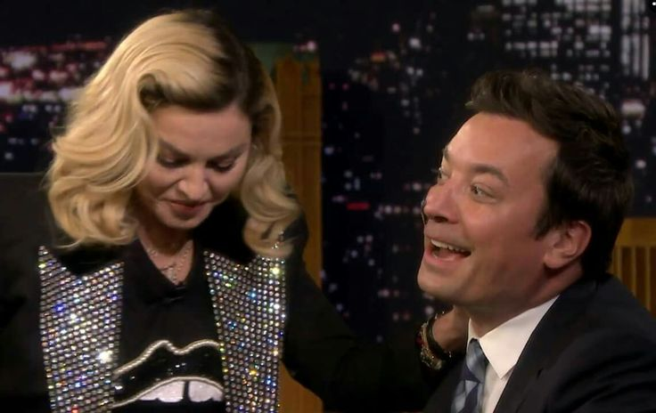 """Madonna to Jimmy Fallon: """"I didn't come here as a pop icon goddess. I came here as an aesthetician to rewrite the declaration of skindependence"""""""