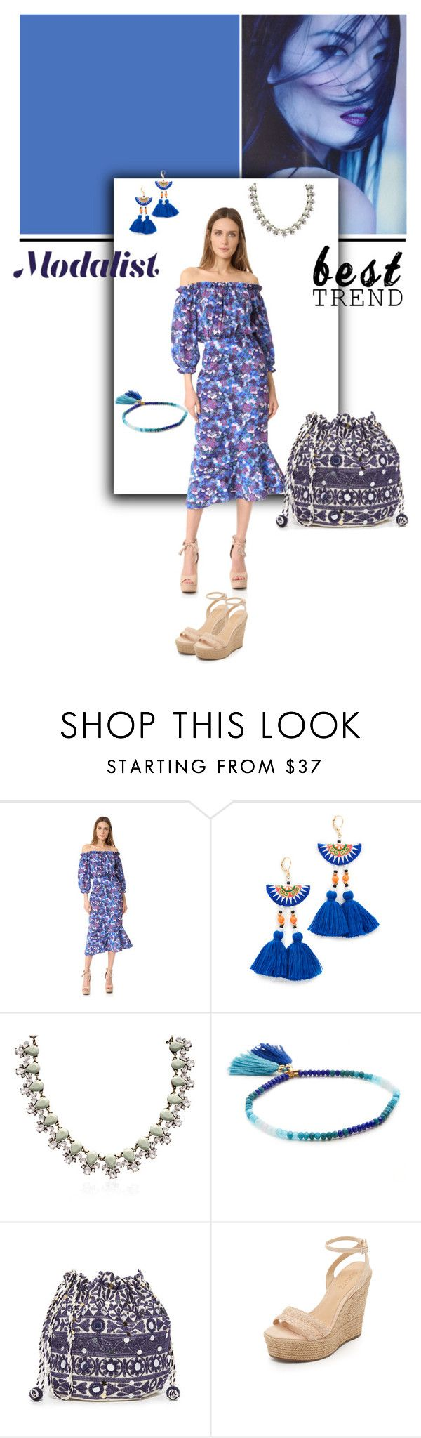 """""""Graceful in Blue"""" by modalist ❤ liked on Polyvore featuring Saloni, Shashi, Star Mela and Schutz"""