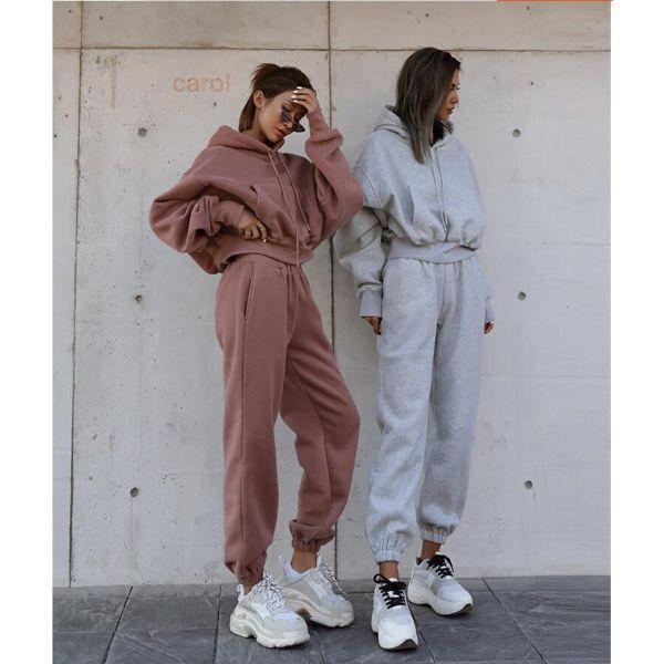 2-piece handmade zip sweatshirt and sweatpants set 2 piece set