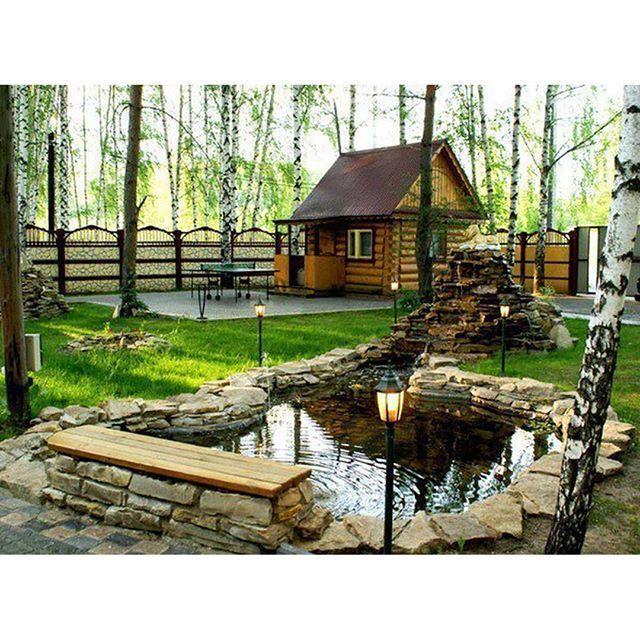 Баня и искусственное озеро в березовой роще. О чем еще можно мечтать? #дача #дом #коттедж #дизайн #декор #интерьер #идея #дача #дом #дизайн #декор #идея #Fazzenda