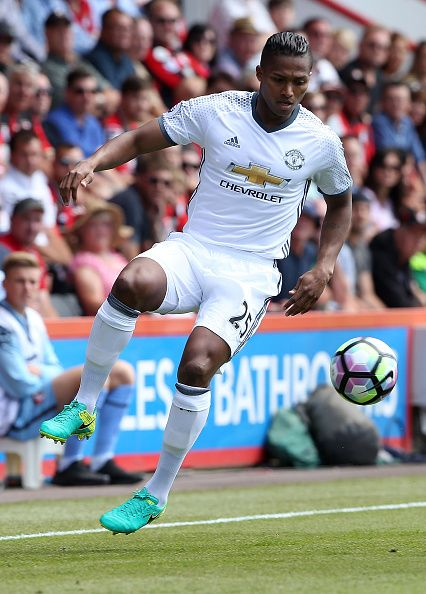 Antonio Valencia of Manchester United in action during the Premier League match…