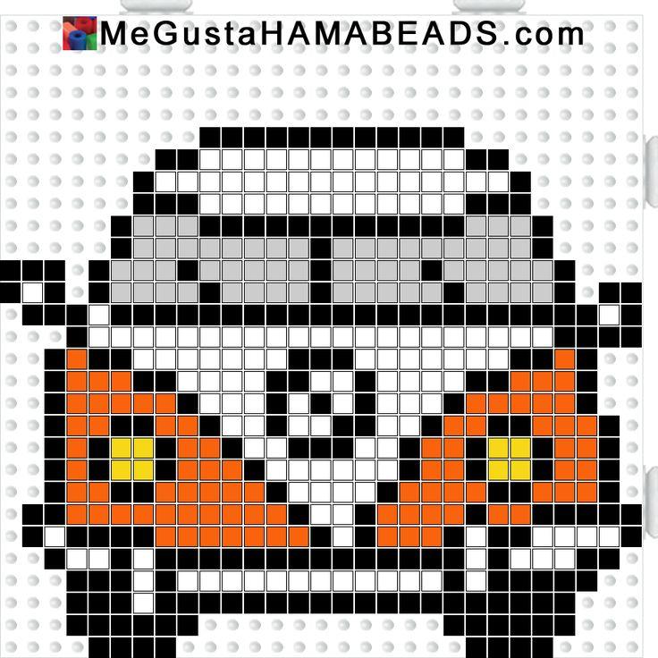 megustahamabeads furgo naranja y blanca