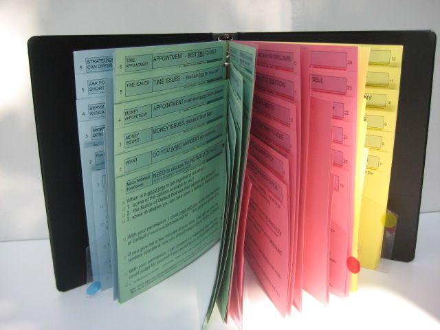 How to organize a cold call script book