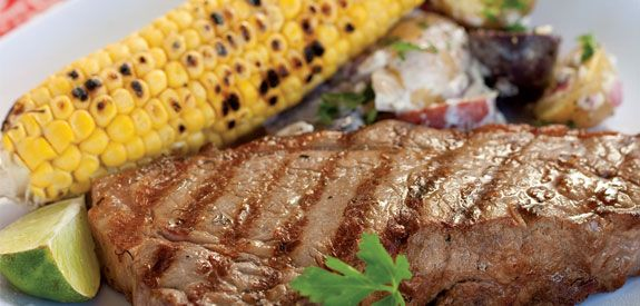 Sandra Lee Grilled New York Strips- Grilled New York Strips