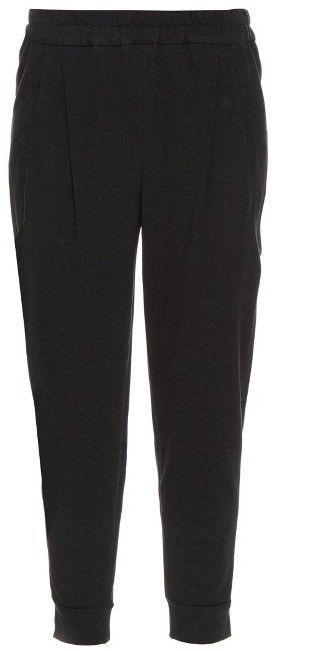 BRUNELLO CUCINELLI Metallic-trimmed cotton-blend tailored track pants
