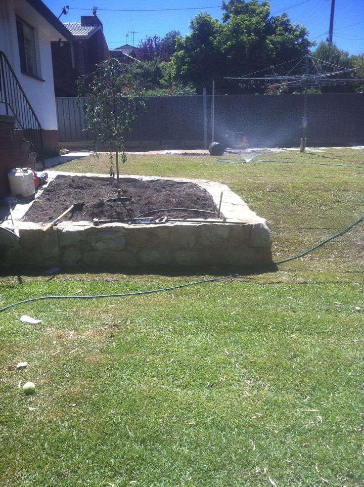 Concrete Block Raised Garden Beds Sandstone Retaining