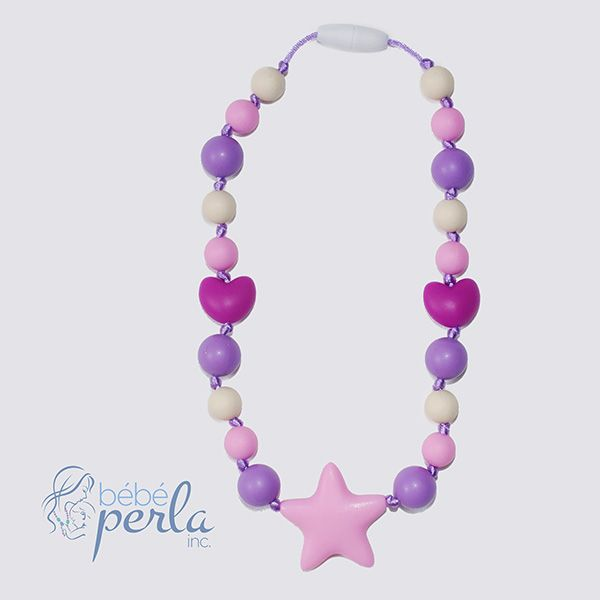 Little girl silicone necklace - Starbright Lea www.bebeperla.com
