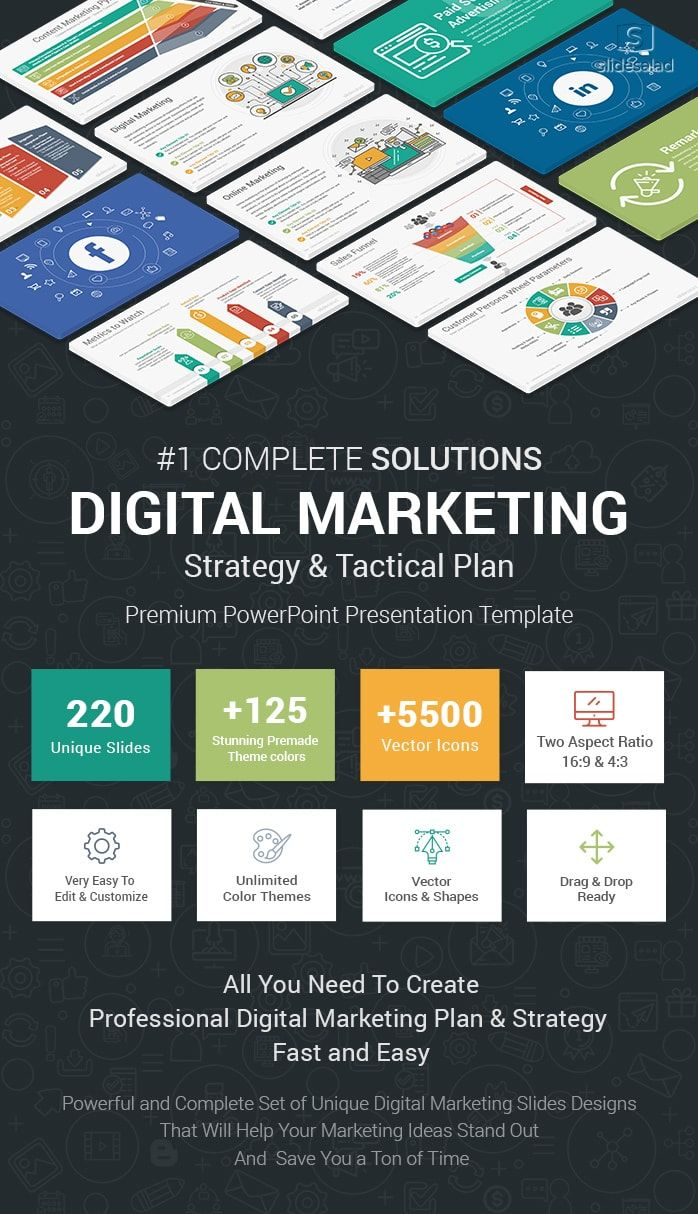 Best Digital Marketing Powerpoint Ppt Template Slidesalad Digital Marketing Digital Marketing Strategy Digital Marketing Plan