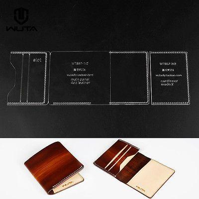 прозрачный акриловый плексиглас Leathercraft узор бумажник карты чехол шаблон