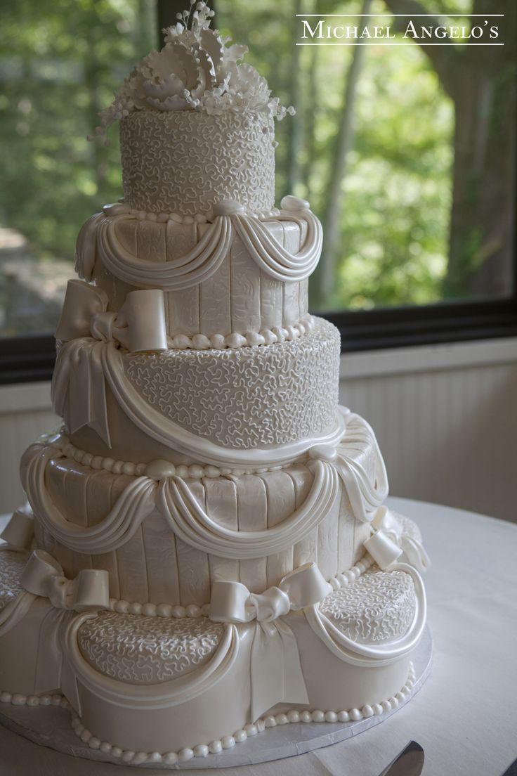 Petal Shaped Wedding Cakes