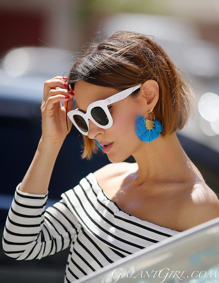 how to wear tassel earrings outfit