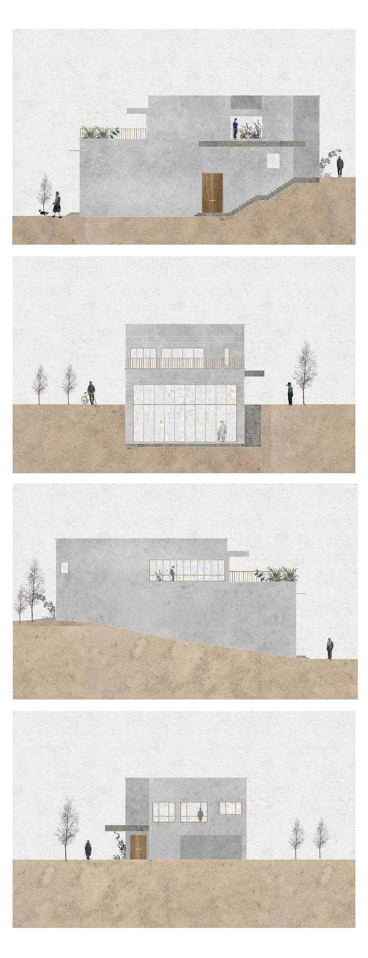Elevation Plan Presentation : Best images about ideas for architectural