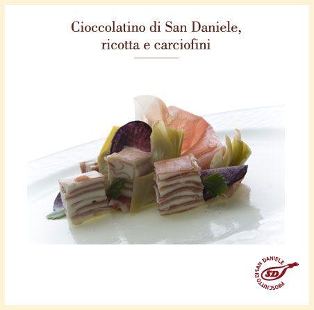 Cioccolatino di #SanDaniele, ricotta e carciofini. http://www.prosciuttosandaniele.it/home_prosciuttosandaniele.php?n=93&l=it