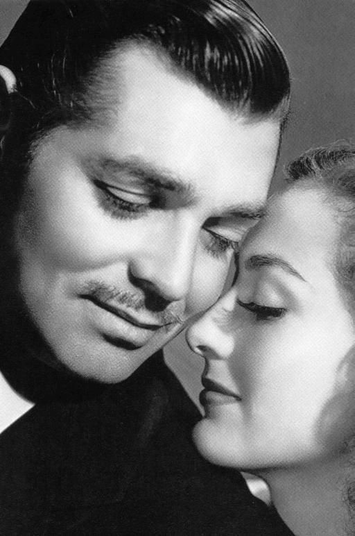 Clark Gable and the love of his life, Carol Lombard....