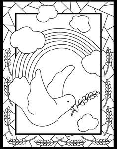 colouring pages dove of peace - Google Search