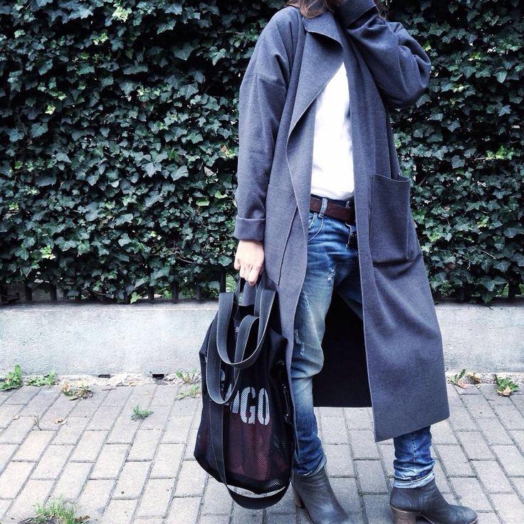 Mnishkha Loose Coat grey