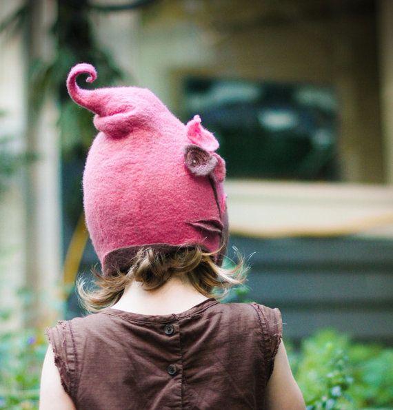 child's felt hat  get your own custom child's por lalabugdesigns, $75.00