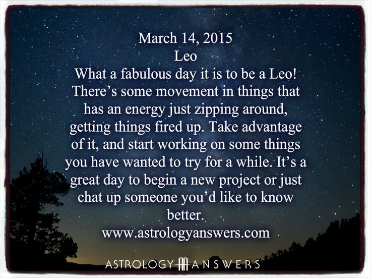 The Astrology Answers Daily Horoscope for Saturday, March 14, 2015 #astrology
