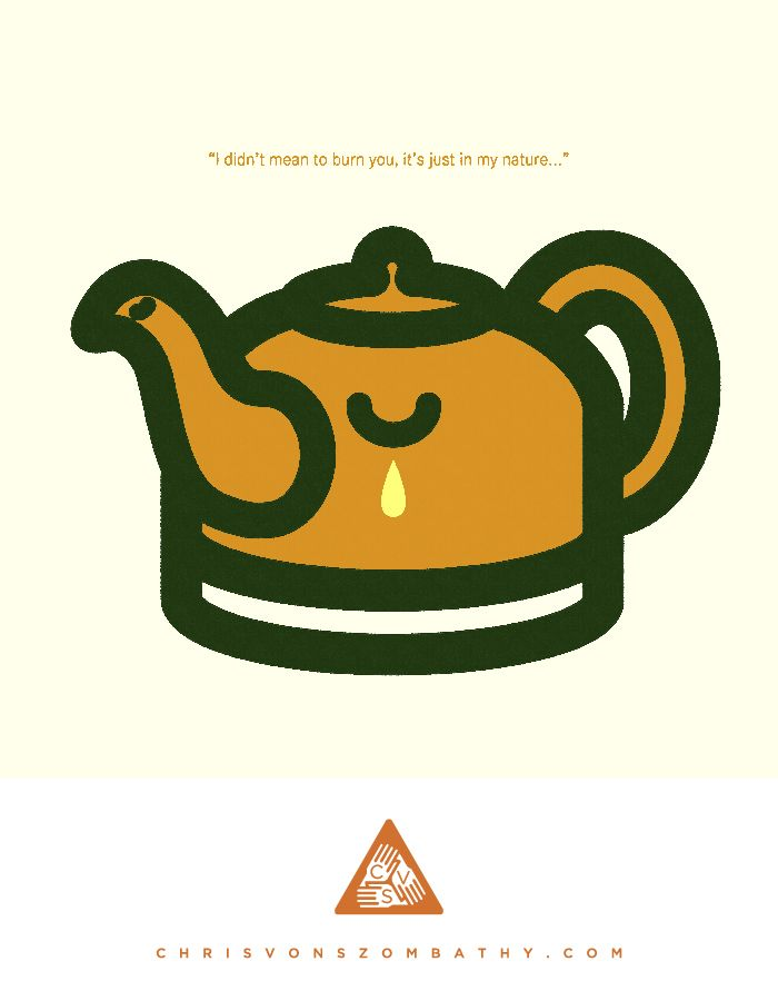 Teapot, an illustration by artist/designer Chris von Szombathy.
