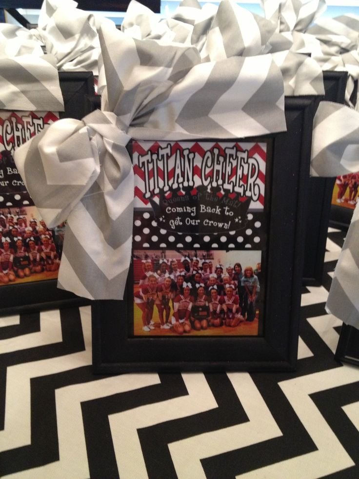 Personalized Cheer Squad Frames with chevron bow