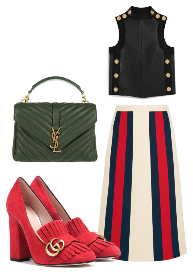 """Strong and chic"" by anita-wonderlight on Polyvore featuring мода, Gucci, Mulberry и Yves Saint Laurent"