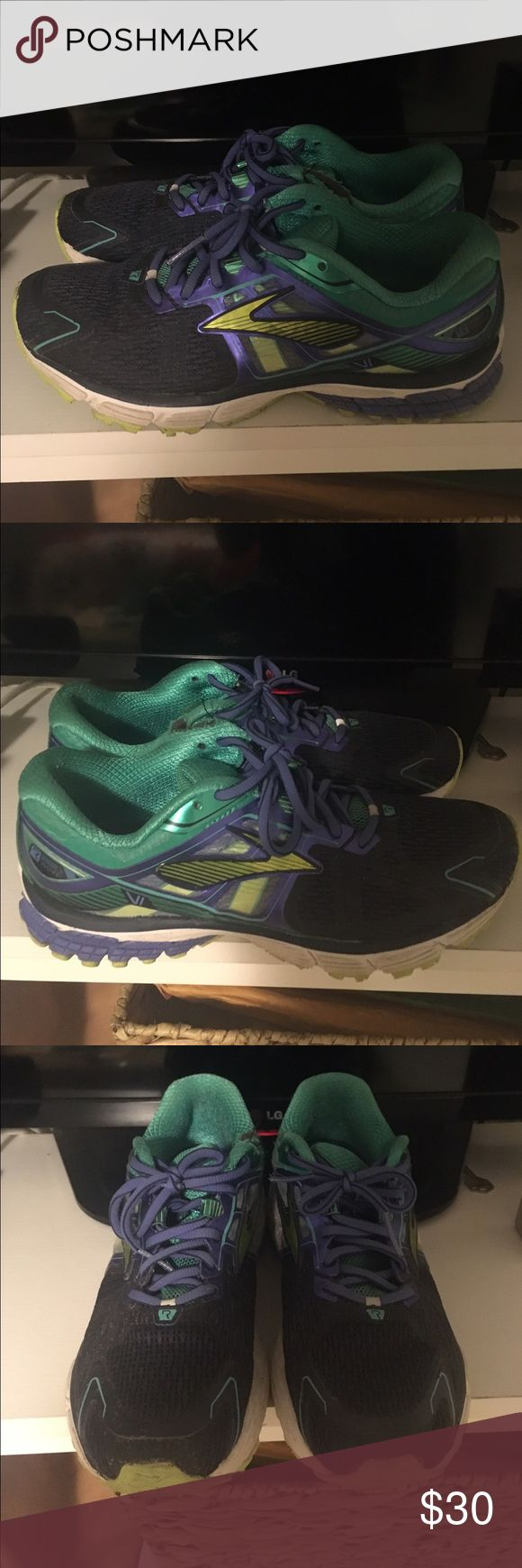 Brooks running shoes Size 9.5 brooks running shoes! So comfortable and supportive just a little small on me. Brooks Shoes Athletic Shoes