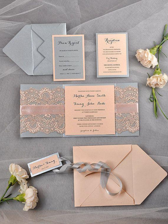Custom listing 20 Vintage Wedding Invitation by forlovepolkadots