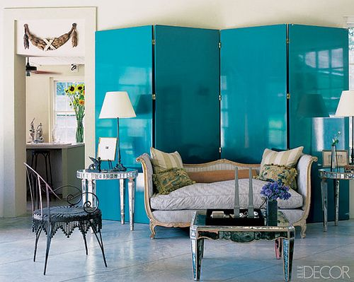 incredible teal lacquer screen…: