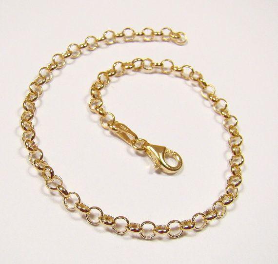 ROLO bracelet    gold chain  sterling silver  by DawidPandel, zł24.00