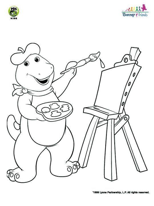 52 besten Coloring Sheets Barney Bilder auf Pinterest | Malbögen ...