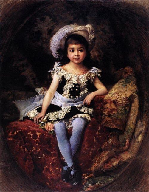 Child Portrait |  Original painting by Konstantin Makovsky