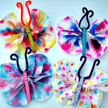 tye dye butterflies