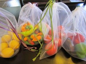make  reusable produce bags to reduce use of plastic bags