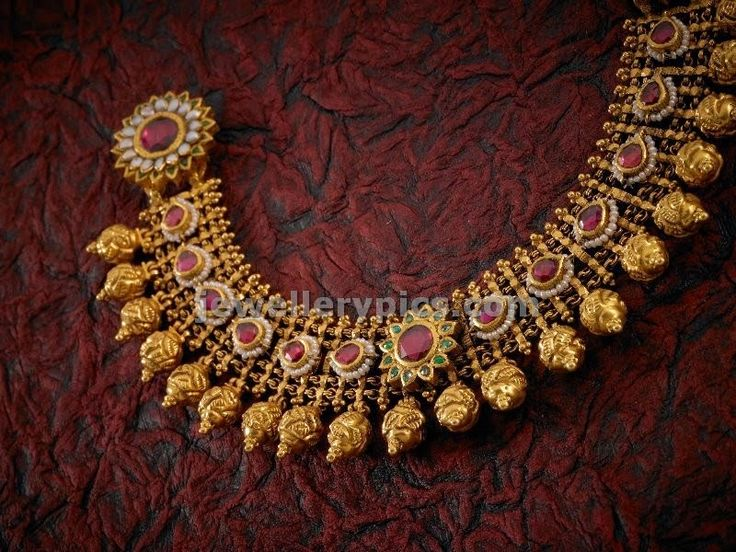 apranjee jewellers antique jewellery nakshi ball necklace