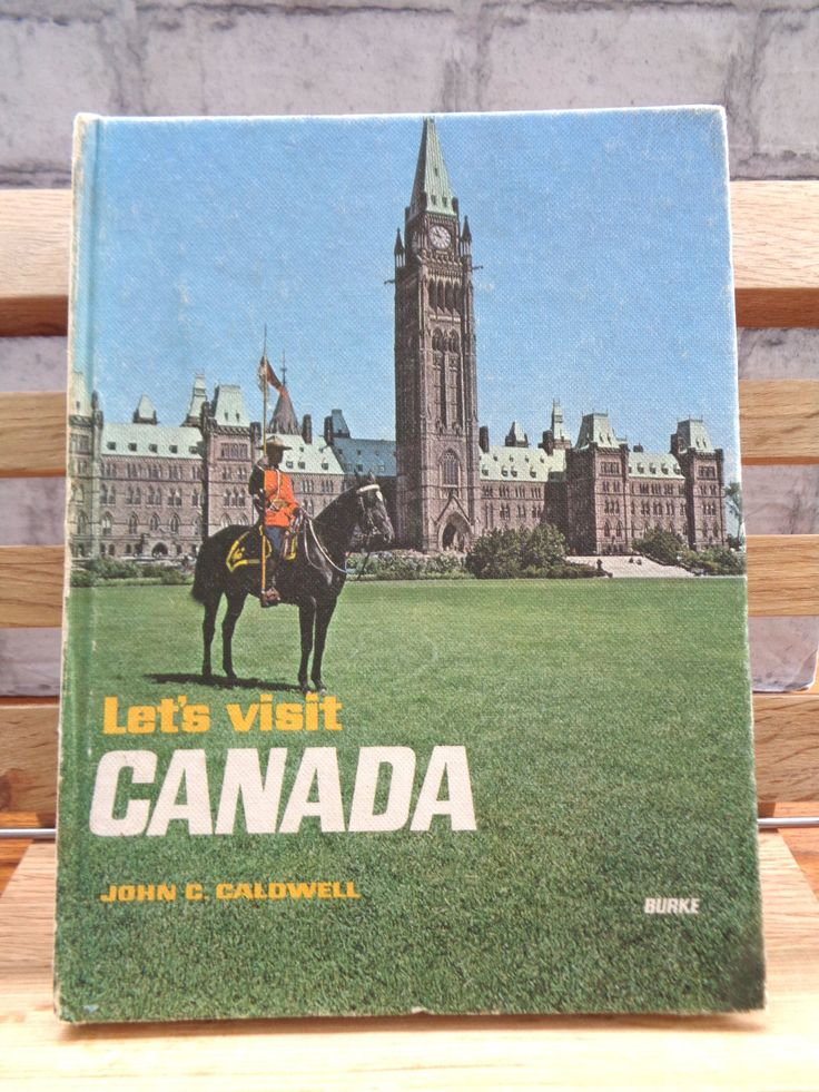 Vintage hardback book travel guide Let's Visit Canada John C Caldwell 1971 Canadian holiday guide facts illustrated reference 412 (X) by TrooperslaneBooks on Etsy