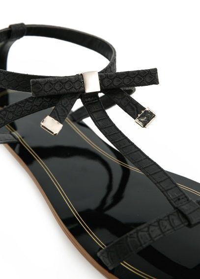 Bow T-bar sandals